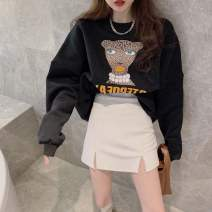 Women's large Winter 2020 Black sweater 7230 + white leather skirt 9591 white sweater 7230 + black leather skirt 9591 S M L XL XXL Other oversize styles Two piece set commute Socket Long sleeves Korean version Crew neck routine SMQ25247 Su Mengqing 18-24 years old Other 100%