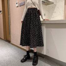 skirt Summer 2021 M L XL Black and white longuette commute High waist A-line skirt Broken flowers Type A 18-24 years old 2837-1 91% (inclusive) - 95% (inclusive) Chiffon He Baiguan polyester fiber printing Retro Polyester 95% polyurethane elastic fiber (spandex) 5% Pure e-commerce (online only)