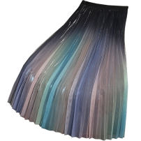 skirt Summer 2021 One size fits all Figure 1 Figure 2 Figure 3 longuette commute High waist Pleated skirt Solid color Type A 25-29 years old B6231 Xuan LAN Pleated gauze Korean version Pure e-commerce (online only)
