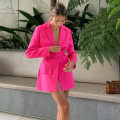 suit Spring 2021 green , rose red , Pink S,M,L Long sleeves Medium length Self cultivation tailored collar Single breasted street routine Solid color FD8920 18-24 years old 51% (inclusive) - 70% (inclusive) polyester fiber Button