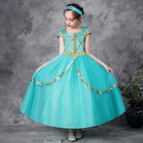 Children's performance clothes green female 100cm,110cm,120cm,130cm,140cm,150cm Other / other polyester fiber 2 years old, 3 years old, 4 years old, 5 years old, 6 years old, 7 years old, 8 years old, 9 years old, 10 years old, 11 years old, 12 years old, 13 years old princess