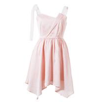 Dress Summer 2017 light pink S M L Short skirt 25-29 years old NEMOW / Nami EA7K137 More than 95% polyester fiber Polyester 100%