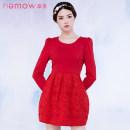 Dress Winter 2016 Dahong 12 S L M Short skirt 25-29 years old NEMOW / Nami EA6K338 More than 95% polyester fiber Polyester 100%