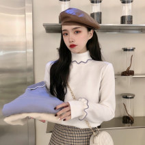 Wool knitwear Winter 2020 Average size White, apricot, light blue Long sleeves singleton  Socket other 30% and below routine commute Self cultivation High collar routine Socket Korean version 18-24 years old Splicing