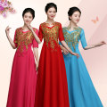 National costume / stage costume Summer of 2018 China Red Rose Red Lake Blue SMLXLXXLXXXL Purple diffuse area ZMQYWHCF-001 25-35 years old Polyester 100% Pure electricity supplier (only online sales)