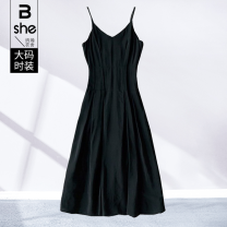 Women's large Spring 2021 black Large L Large XL Large 2XL large 3XL large 4XL large 5XL Vest / sling singleton  street Self cultivation moderate Socket Sleeveless Three dimensional cutting Binghan clothing house 35-39 years old Medium length Polyester 100% Pure e-commerce (online only)