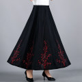 Middle aged and old women's wear Summer 2020 XL XXL XXXL 4XL commute skirt easy singleton  Solid color 40-49 years old Socket thin Medium length Xinwenrong Diamond inlay other Other 100% 96% and above Pure e-commerce (online only) Medium length Pleated skirt literature