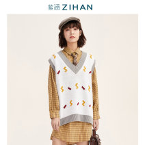 shirt Huang Ge XS S M L Summer of 2019 cotton 96% and above Long sleeves Sweet Medium length square neck Single row multi button routine lattice 18-24 years old Straight cylinder By I'happy / Zihan E9Z07BS274 Cotton 100% Same model in shopping mall (sold online and offline) Mori