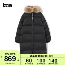 Down Jackets Winter of 2018 izzue BKX / black KHX / Army Green XS S M L XL White duck down 90% 250g (including) - 300g (excluding) 96% and above polyester fiber Sheepskin Polyester 100% Same model in shopping mall (sold online and offline)