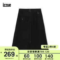 skirt Winter of 2018 26 27 28 29 Black Mid length dress Natural waist A-line skirt Solid color 18-24 years old IZXSKC9211W8B 71% (inclusive) - 80% (inclusive) izzue polyester fiber 71% 2.8% wool Same model in shopping mall (sold online and offline)