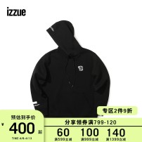 Sweater Youth fashion izzue Black Blue (Green) Heather Grey Red White Yellow S M L XL Solid color Socket routine Hood easy leisure time youth routine IZXSWX3218W8B Cotton 59.9% polyester 40.1% Winter of 2018 Same model in shopping mall (sold online and offline)