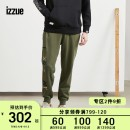Casual pants izzue Youth fashion BKX / black KHX / Army Green 28 30 32 34 36 trousers Other leisure Straight cylinder IZXPTR6703F9D Cotton 100% Autumn of 2019 Same model in shopping mall (sold online and offline)