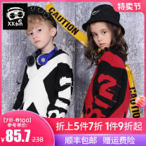 Sweater / sweater 110cm 120cm 130cm 140cm 150cm 160cm Pure cotton (100% cotton content) male Black red black and white Xxbin / Xiaobin leisure time There are models in the real shooting Socket routine Crew neck nothing Coarse wool other Class C Long sleeves Autumn of 2019 spring and autumn