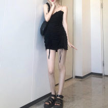 Dress Spring 2021 Black, white S, M Middle-skirt singleton  Sleeveless commute middle-waisted Solid color other other camisole 18-24 years old Type A Korean version 51% (inclusive) - 70% (inclusive) other cotton