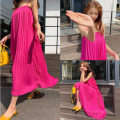 Dress Spring 2021 rose red Average size longuette singleton  Sleeveless commute Loose waist Solid color camisole 18-24 years old Korean version