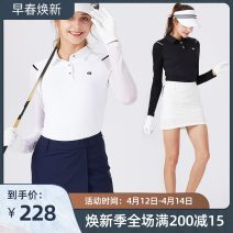 Golf apparel White, gray, black S,M,L,XL,XXL female SWAN LOVE GOLF Long sleeve T-shirt