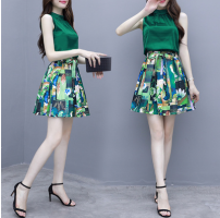 skirt Summer 2020 S,M,L,XL,2XL Set Items  Short skirt commute Natural waist Pleated skirt Decor 18-24 years old Korean version