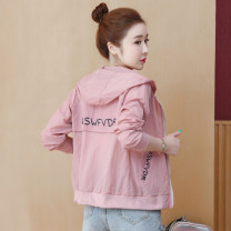 short coat Summer 2020 S,M,L,XL,2XL White, yellow, pink Long sleeves routine routine singleton  easy commute routine Hood zipper letter 25-29 years old 96% and above other