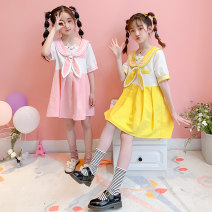 Dress Yellow, pink female Other / other 110cm,120cm,130cm,140cm,150cm,160cm,170cm Cotton 90% polyester 10% summer college Short sleeve Cartoon animation cotton A-line skirt MGx00011 Class B 14, 3, 5, 9, 12, 7, 8, 6, 13, 11, 4, 10 Chinese Mainland Zhejiang Province Huzhou City