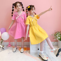 Dress Yellow, pink female Other / other 110cm,120cm,130cm,140cm,150cm,160cm,170cm Cotton 90% polyester 10% summer Korean version Short sleeve Solid color other A-line skirt MGx00010 Class B 7, 8, 14, 3, 6, 13, 11, 5, 4, 10, 9, 12 Chinese Mainland