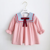 Dress In stock, scheduled 7-15 days delivery female Other / other 80cm,90cm,100cm,110cm,120cm,70cm Cotton 80% other 20% Long sleeves cotton A-line skirt 3 months, 12 months, 6 months, 9 months, 18 months, 2 years old, 3 years old, 4 years old, 5 years old Chinese Mainland