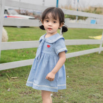 Dress female Other / other 80cm,90cm,100cm,110cm,120cm,130cm,70cm Cotton 80% other 20% summer cotton Lotus leaf edge 12 months, 6 months, 9 months, 18 months, 2 years old, 3 years old, 4 years old, 5 years old, 6 years old
