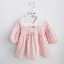 Dress In stock, scheduled 7-15 days delivery female Other / other 80cm,90cm,100cm,110cm,70cm Cotton 80% other 20% spring and autumn princess Long sleeves cotton A-line skirt 3 months, 12 months, 6 months, 9 months, 18 months, 2 years old, 3 years old, 4 years old, 5 years old Chinese Mainland
