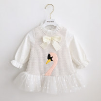 Dress Stock, order female Other / other 80cm,90cm,100cm,110cm,120cm,70cm Cotton 80% other 20% spring and autumn Long sleeves cotton Princess Dress 3 months, 12 months, 6 months, 9 months, 18 months, 2 years old, 3 years old, 4 years old, 5 years old Chinese Mainland