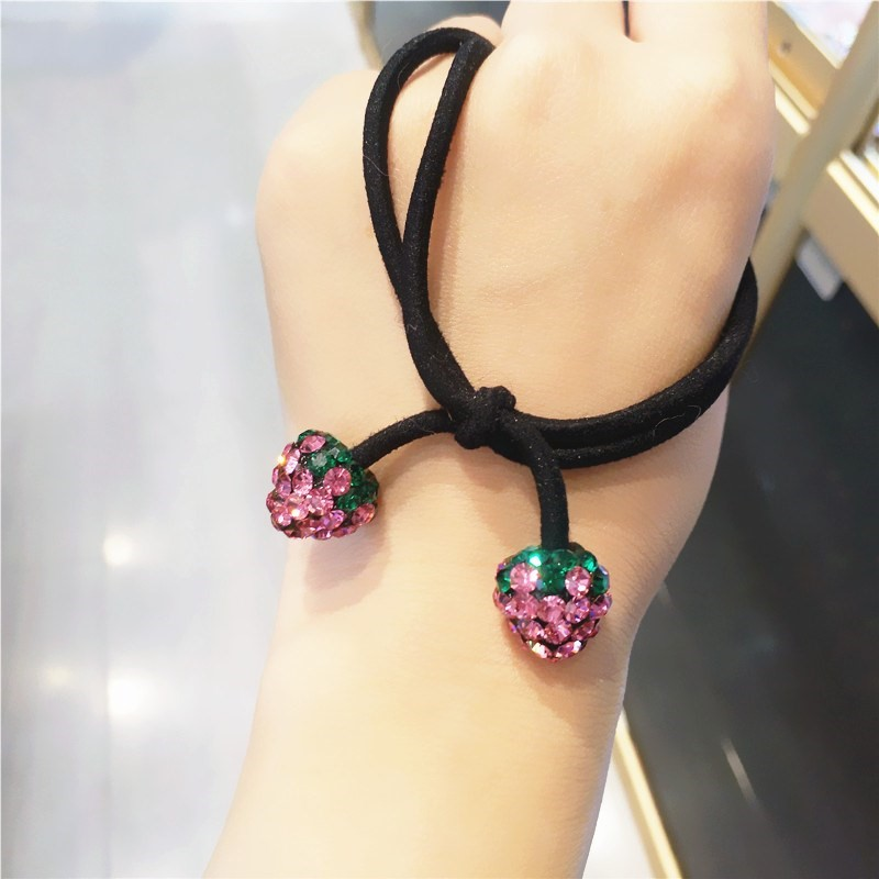 Hair accessories Hair rope 40-49.99 yuan Other / other Red little strawberry pink little strawberry red big strawberry pink big strawberry brand new
