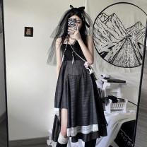 Dress Summer 2021 black S,M,L Miniskirt singleton  High waist Socket Irregular skirt camisole 9955# 31% (inclusive) - 50% (inclusive) polyester fiber