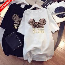 suit VSETAMELLE M,L,XL,XXL Korean version Short sleeve + pants summer routine lattice VS-13520 nylon Cotton liner