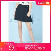 skirt Summer 2018 Short skirt Versatile High waist A-line skirt More than 95% Type A polyester fiber 25-29 years old other 72174 Other / other XS,S,M,L,XL,XXL black