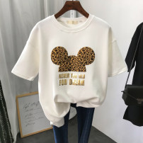 T-shirt M L XL XXL Spring 2021 Short sleeve Crew neck easy Regular routine commute polyester fiber 86% (inclusive) -95% (inclusive) 18-24 years old Korean version youth Jenina (women's shoes) printing Polyester 95% polyurethane elastic fiber (spandex) 5% Pure e-commerce (online only)