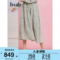 skirt Summer 2021 XS S M Grz / green nyz / Army blue Mid length dress Natural waist 25-29 years old BCXSK1S1181SG More than 95% b+ab Viscose Viscose (viscose) 100% Same model in shopping mall (sold online and offline)