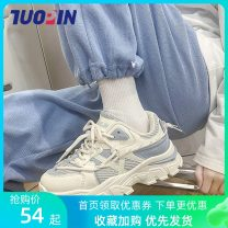 canvas shoe Low Gang 35,36,37,38,39,40 Winter of 2019 Frenulum Korean version rubber Solid color Cross bandage Vulcanization process
