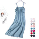 Dress Summer 2020 XL,L,2XL Mid length dress singleton  commute Crew neck Loose waist Solid color Socket camisole Type H Nine silkworms Simplicity More than 95% Silk and satin silk