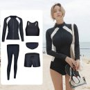one piece  other Solid color Long sleeve male Competitive swimsuit No steel support, no chest pad Xinyi BH1923 M,L,XL,XXL,XXXL Women's 5-piece black and white zipper set, men's 3-piece black and white zipper set