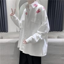shirt Youth fashion Jetner M L XL 2XL routine square neck Long sleeves easy Other leisure autumn lovers Cotton 100% Basic public 2020 character Autumn 2020 No iron treatment cotton printing Pure e-commerce (online only) More than 95%
