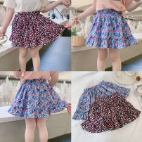 skirt 90cm,100cm,110cm,120cm,130cm,140cm Black flowers, red and blue flowers Other / other female Other 100% Miniskirt Broken flowers Lotus leaf edge