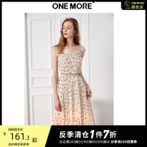 Dress Summer of 2019 Rice flower XS S M L Mid length dress singleton  Sleeveless commute other middle-waisted Decor other other other camisole 25-29 years old Type A one more lady tassels A1WA9205B03-169564 More than 95% Chiffon polyester fiber Polyester 100%