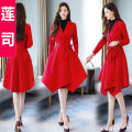woolen coat Winter of 2019 M L XL 2XL Black red other 95% and above Medium length Long sleeves commute other routine Polo collar Solid color Self cultivation Retro Renji  25-29 years old Imitation fabric Other 100%
