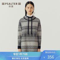 Wool knitwear Winter of 2018 36 38 40 42 44 black and white Long sleeves wool More than 95% Regular 30-34 years old Psalter / poem Wool 100%