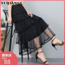 skirt Summer of 2019 Average size Mid length dress commute High waist Cake skirt Solid color Type A YQGA789 91% (inclusive) - 95% (inclusive) According to shallow case polyester fiber Hollow net lace Korean version Other polyester 95% 5% Pure e-commerce (online only)