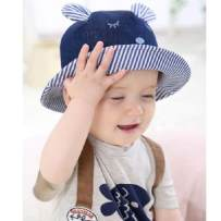 Hat S Light blue dark blue 6 12 months 12 years old neutral Fisherman hat dome leisure time Other / other Big eaves Cotton blended fabric 004484