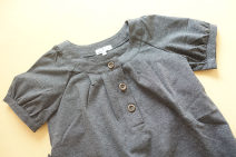Dress NADUOHUA dark grey M, L Japanese  blending