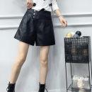Casual pants black S,M,L,XL,2XL Spring 2021 shorts Wide leg pants High waist routine 81% (inclusive) - 90% (inclusive) 2095# Jinliangqi / Jin Liangqi other rivet spandex Asymmetry