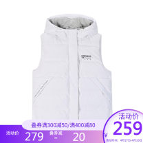 Down vest female XS S M L XL 2XL 3XL 4XL Basic black and white 361° Winter of 2019 Hood letter zipper yes Keep warm and wear resistant 80% white duck down Women's training polyester fiber