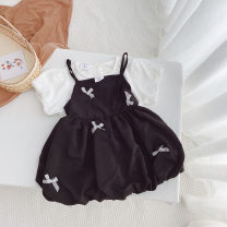 suit Other / other 80cm,90cm,100cm,110cm,120cm,130cm summer Korean version Long sleeve + skirt 2 pieces Thin money No model Socket Solid color Pure cotton (100% cotton content) Class B 2 years old, 3 years old, 4 years old, 5 years old, 6 years old