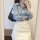 Fashion suit Summer 2021 S,M,L,XL Blue top + skirt 18-25 years old 51% (inclusive) - 70% (inclusive)