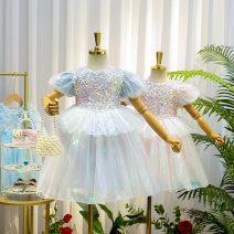 Dress Blue 88801, pink 88801 female Other / other Size 7 is suitable for height 110cm, size 9 is suitable for height 120cm, size 11 is suitable for height 130cm, size 13 is suitable for height 140cm, size 15 is suitable for height 150cm Other 100% summer princess Long sleeves Solid color other
